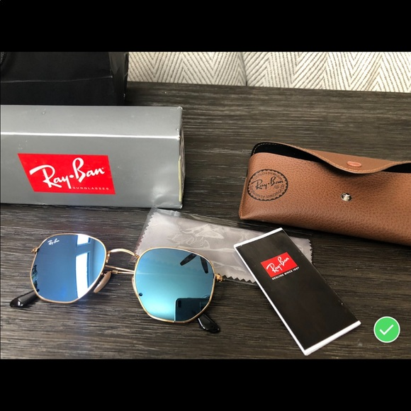 d53321755e6 NWT Ray-Ban hexagonal flat lenses